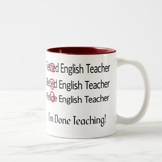 Retired Reading Teacher Mug Retired Reading Teacher Mug Gift For Reading Teacher