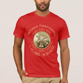 Retired Fire Battalion Chief Custom VVV Medallion T-Shirt