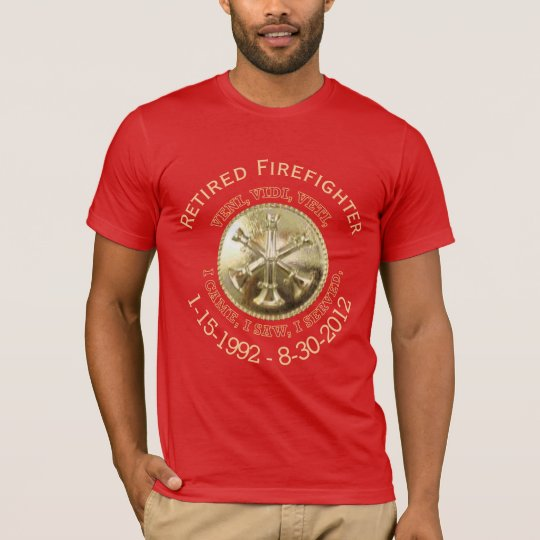 Retired Fire Battalion Chief Custom VVV Medallion T-Shirt