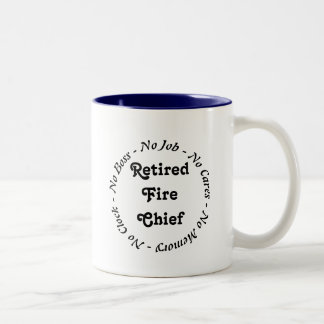 Retired Fire Chief Two-Tone Coffee Mug