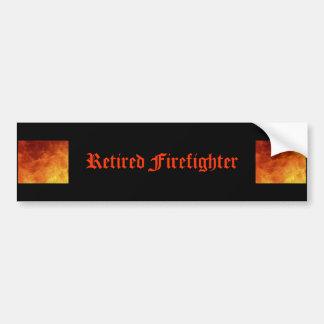 Retired Firefighter Bumper Sticker