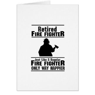Retired Firefighter Fire Man Chief Funny  Gift Card