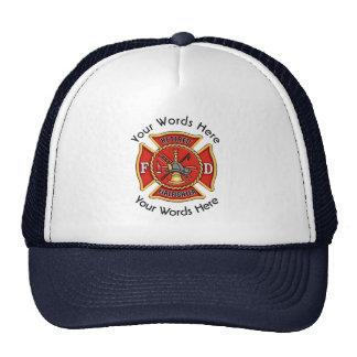 Retired Firefighter Maltese Cross Trucker Hat
