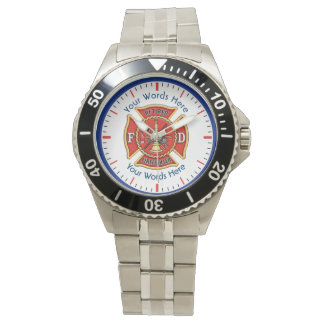 Retired Firefighter Maltese Cross Watch