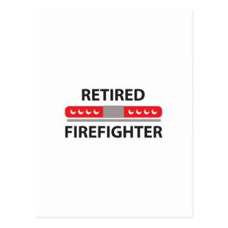 RETIRED FIREFIGHTER POSTCARD
