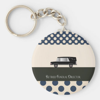 Retired Funeral Director Gifts Basic Round Button Keychain