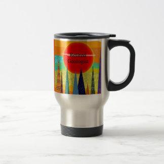 Retired Geologist Mountain Art Travel Mug