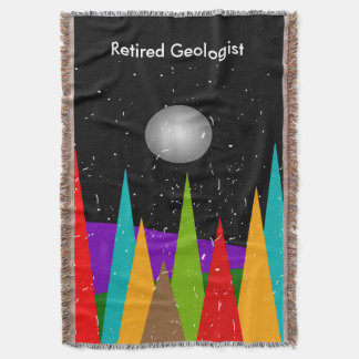 Retired Geologist Woven Blanket Artsy Mountain Throw
