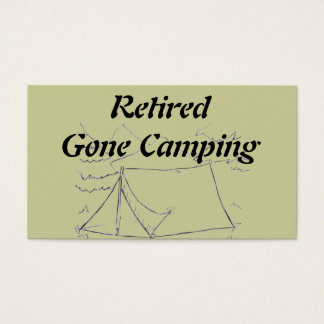Retired Gone Camping Business Card