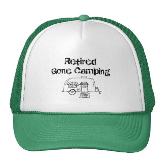 Retired Gone Camping Trucker Hat