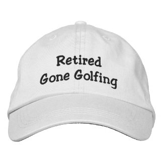 Retired Gone Golfing Personalized Adjustable Hat