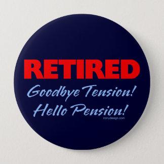 Retired Goodbye (dark blue) 4 Inch Round Button