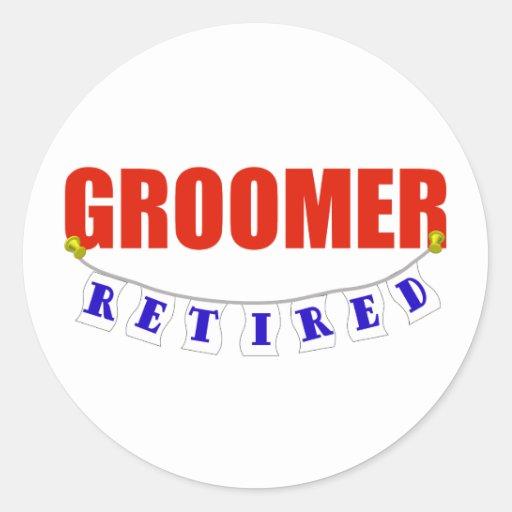RETIRED GROOMER STICKER