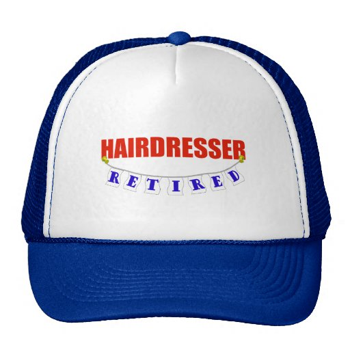 RETIRED HAIRDRESSER MESH HAT
