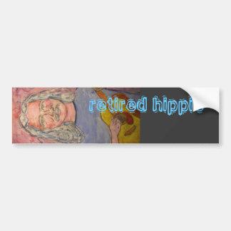 retired hippie bumper sticker