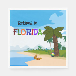 Retired in Florida Disposable Napkins