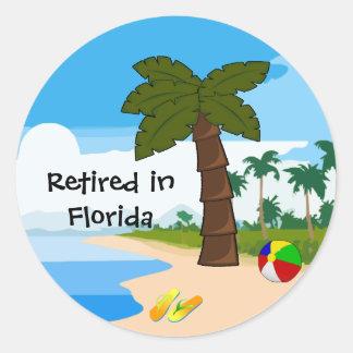 Retired in Florida Round Sticker