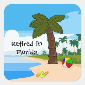 Retired in Florida Square Sticker