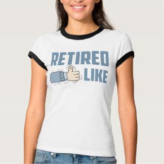 Retired Ladies Ringer T-Shirt
