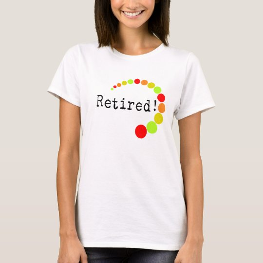 Retired Ladies T-Shirts Citrus Dots Design