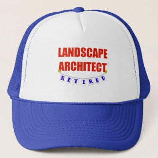 RETIRED LANDSCAPE ARCHITECT TRUCKER HAT