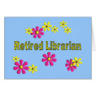 Retired Librarian Gifts Daisies Pattern Card