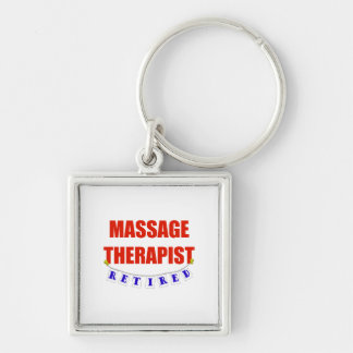 RETIRED MASSAGE THERAPIST Silver-Colored SQUARE KEYCHAIN