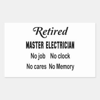 Retired Master Electrician No job No clock No care Sticker