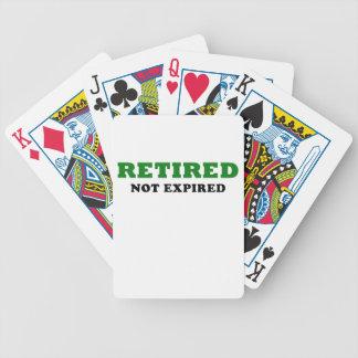 Retired Not Expired Poker Deck
