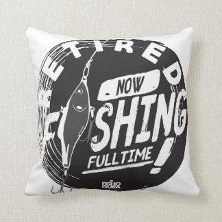 RETIRED. NOW FISHING FULLTIME! Cotton Throw Pillow