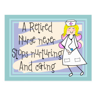 Retired Nurse Angel Art Cards & Gifts Postcard