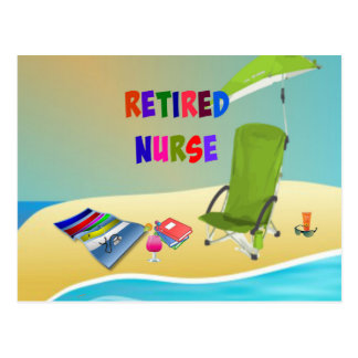 Retired Nurse, Fun in the Sun Postcard