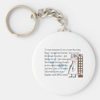 """Retired Nurse""  Story Art--Unique Gift Items Keychain"