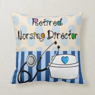 Retired Nursing Director Pillow