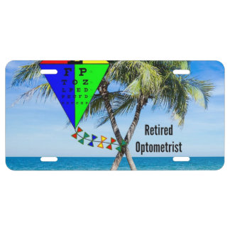Retired Optometrist, Humor License Plate