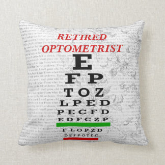 Retired Optometrist Pillow