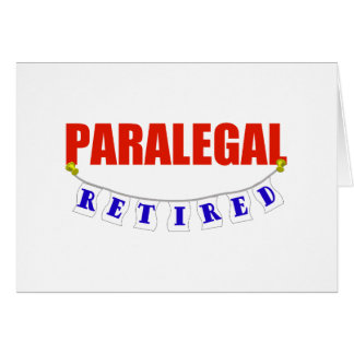 RETIRED PARALEGAL CARD