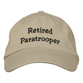 Retired Paratrooper Personalized Adjustable Hat