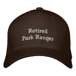Retired Park Ranger Embroidered Hat