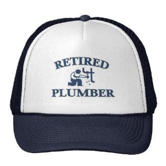 Retired plumber trucker hats