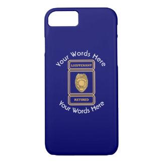 Retired Police Lieutenant Custom Shield iPhone 7 Case