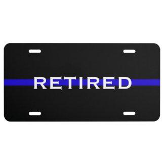RETIRED POLICE OFFICER LICENSE PLATE