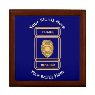 Retired Police Officer Shield Gift Box