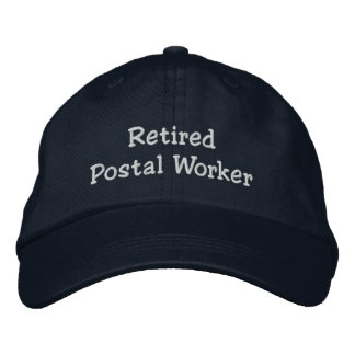 Retired Postal Worker Embroidered Hat