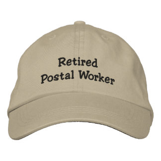 Retired Postal Worker Embroidered Hats