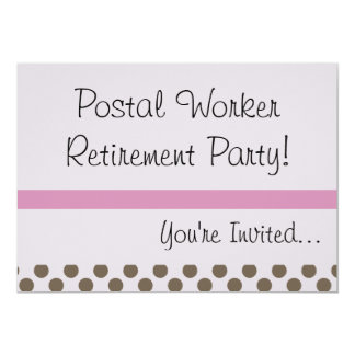 Retired Postal Worker Party Invitations USPS