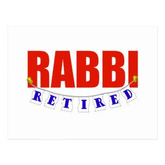 RETIRED RABBI POSTCARD