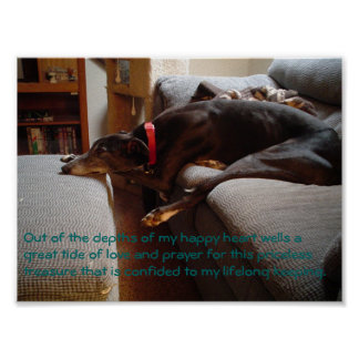 Retired racer poster