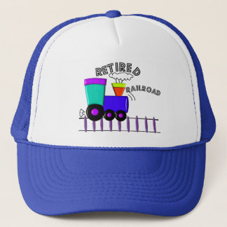 Retired Railroad Worker Gifts Trucker Hat