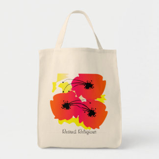 Retired Religious Tote Bag Artsy l Flowers II